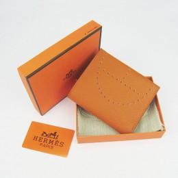 Hermes H025 Mini Short Punching H Wallet Orange
