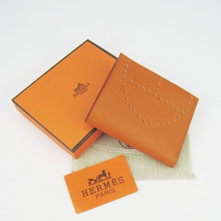 Hermes H025 Mini Short Punching H Wallet Orange