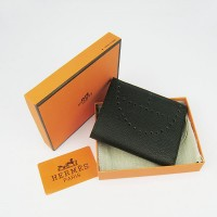 Hermes H025 Mini Short Punching H Wallet Black