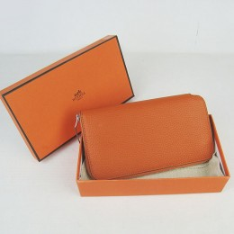 Hermes H016 Long Wallet Orange