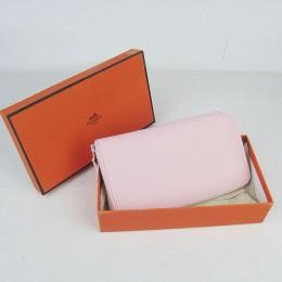 Hermes H016 Long Wallet Pink