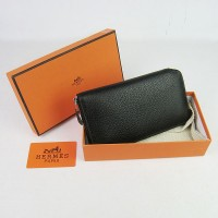 Hermes H016 Long Wallet Black