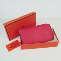 Hermes H016 Long Wallet Red