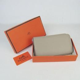 Hermes H016 Long Wallet Gray