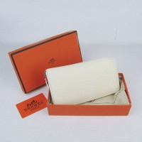 Hermes H016 Long Wallet Off White