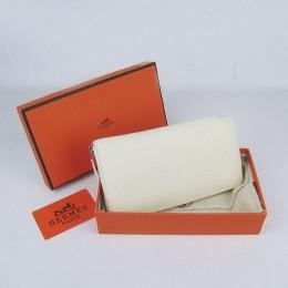 Hermes H016 Long Wallet Off White