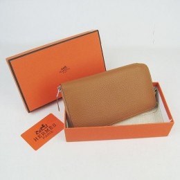 Hermes H016 Long Wallet Light Coffee