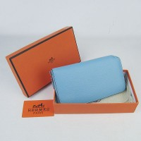 Hermes H016 Long Wallet Light Blue
