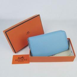 Hermes H016 Long Wallet Light Blue
