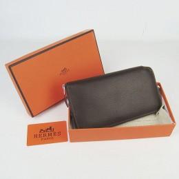 Hermes H016 Long Wallet Deep Coffee