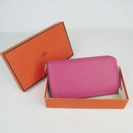 Hermes H016 Long Wallet Pink2