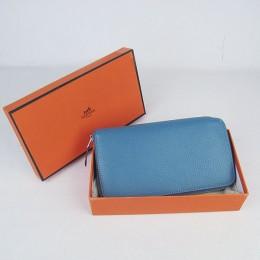 Hermes H016 Long Wallet Smalt