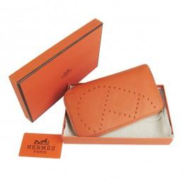 Hermes H016A Long Punching H Wallet Orange