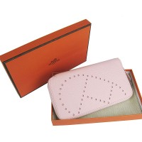 Hermes H016A Long Punching H Wallet Pink