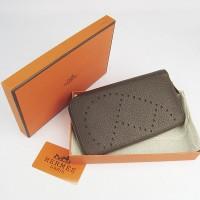 Hermes H016A Long Punching H Wallet Deep Coffee