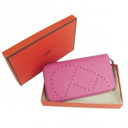Hermes H016A Long Punching H Wallet Pink2