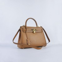 Hermes Kelly 28Cm Togo Leather Light Coffee Gold