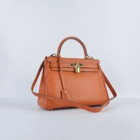 Hermes Kelly 28Cm Togo Leather Orange Gold