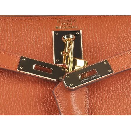 Hermes Kelly 28Cm Togo Leather Orange Gold