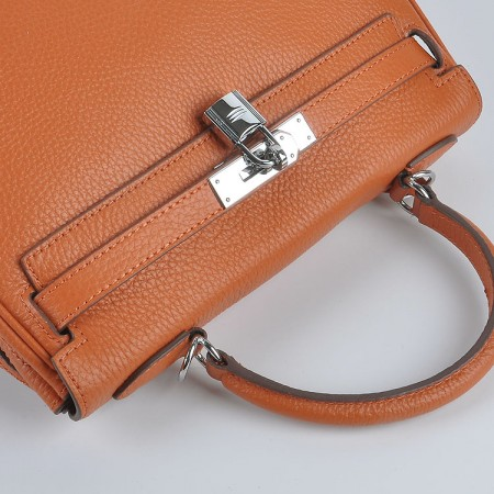 Hermes Kelly 28Cm Togo Leather Orange Silver