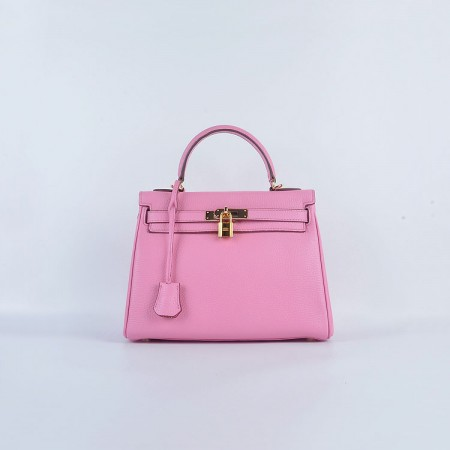 Hermes Kelly 28Cm Togo Leather Cherry Pink Gold