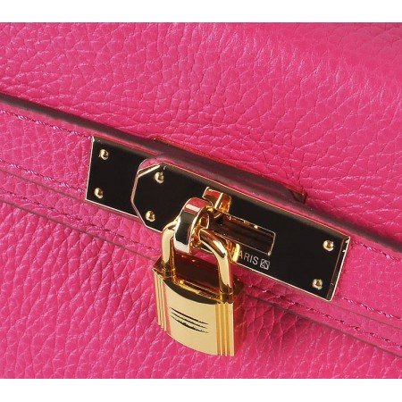 Hermes Kelly 28Cm Togo Leather Red Wine Gold