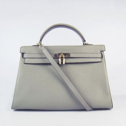 Hermes Kelly 35Cm Togo Leather Handbag Khaki/Gold