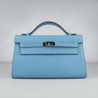 Hermes Kelly 22Cm Handbag Light Blue