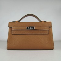 Hermes Kelly 22Cm Handbag Light Coffee