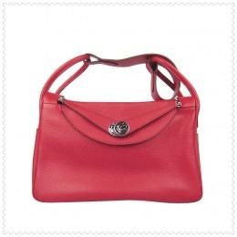 Hermes Lindy Handbag Red