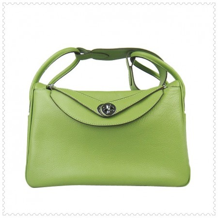 Hermes Lindy Handbag Green