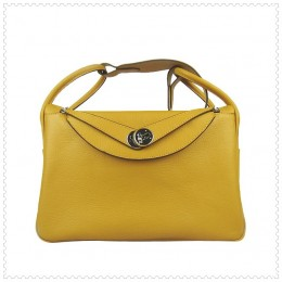 Hermes Lindy Handbag Yellow