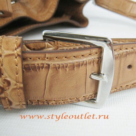 counterfeit hermes bags - Hermes So Kelly 24cm Crocodile vein Shoulder Bag light coffee Silver