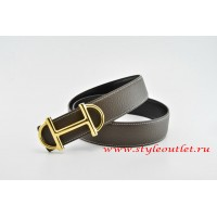 Hermes Anchor Chain Leather Reversible Brown/Black Belt 18k Gold Buckle