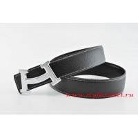 Hermes Fashion H Leather Reversible Black/Black Belt 18k Silver Buckle