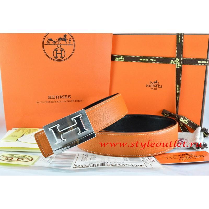 7a18a2749 ... buy hermes orange black leather men reversible belt 18k silver big h  buckle 03297 00130
