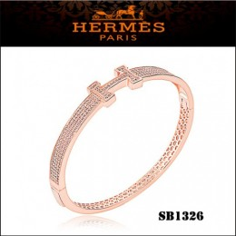 Hermes Clic H Bracelet Pink Gold With Diamonds