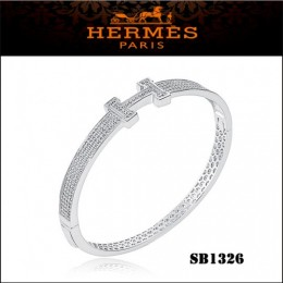 Hermes Clic H Bracelet White Gold With Diamonds