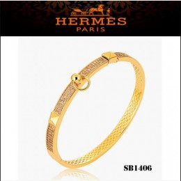 Hermes Collier De Chien Pm Bracelet Gold With Diamonds
