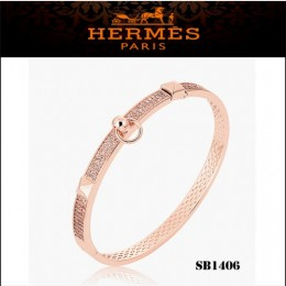 Hermes Collier De Chien Pm Bracelet Pink Gold With Diamonds