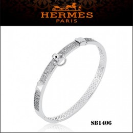 Hermes Collier De Chien Pm Bracelet White Gold With Diamonds