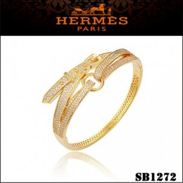 Hermes Debridee Bracelet Gold With Diamonds