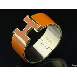 Hermes Yellow Enamel Clic H Bracelet Narrow Width (33mm) In Gold
