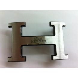 Hermes Belt 18K Black Silver With Logo Buckle