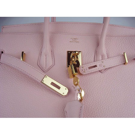 Hermes Birkin 35Cm Togo Leather Handbags Pink Gold