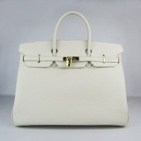 Hermes Birkin 40Cm Togo Leather Handbags Beige Gold
