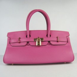 Hermes Birkin 42Cm Togo Leather Handbags Peach Gold