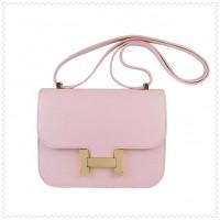 Hermes Constance Shoulder Bag Pink Gold