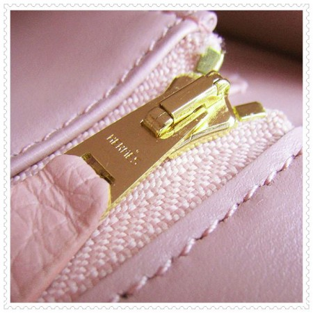 Hermes Constance Shoulder Bag Pink Gold