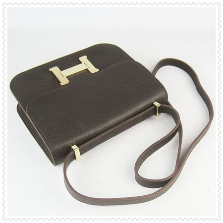 Hermes Constance Shoulder Bag Hepatic Gold